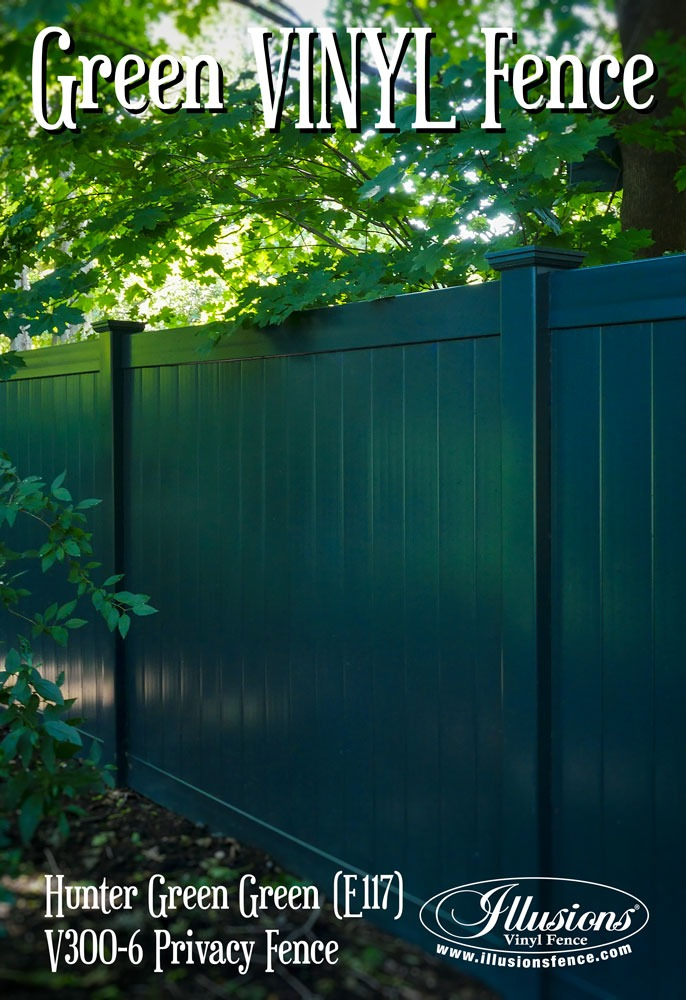 Where Can I Find A Green Pvc Vinyl Fence Illusions