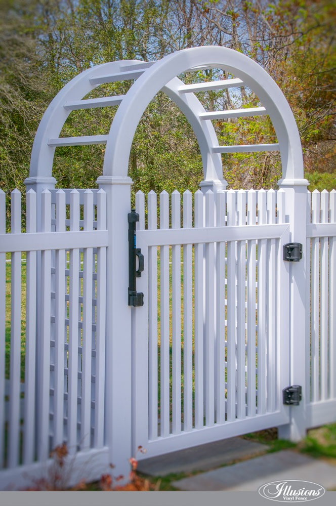 Amazing White PVC Illusions Vinyl Fence Arbor #homeideas
