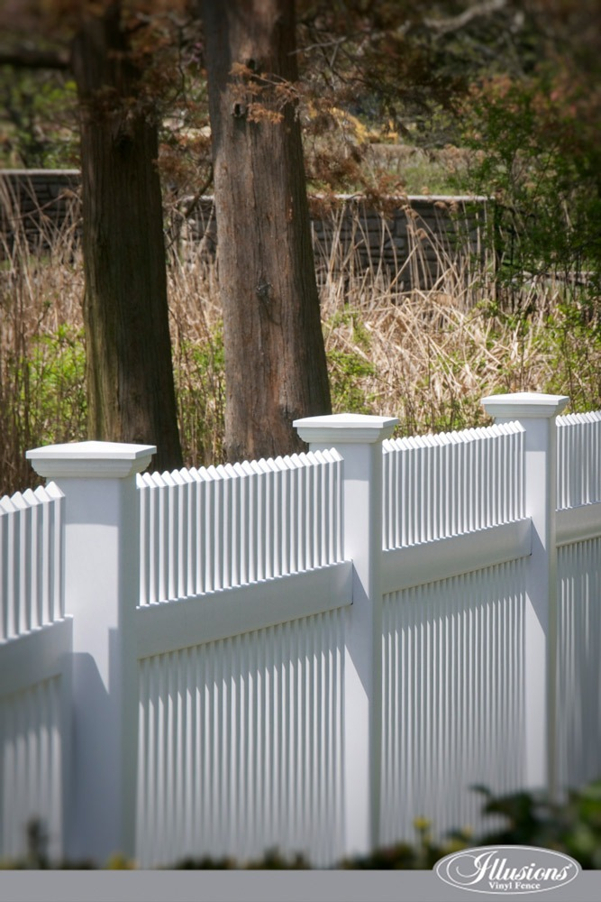Gorgeous White PVC Vinyl Picket Fence from Illusions Vinyl Fence. #homedecor