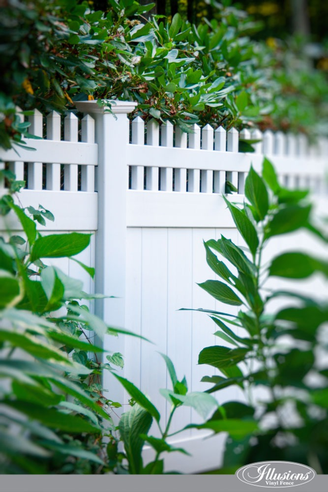 Stunning PVC Vinyl Privacy Fence from Illusions Vinyl Fence. #homedecor