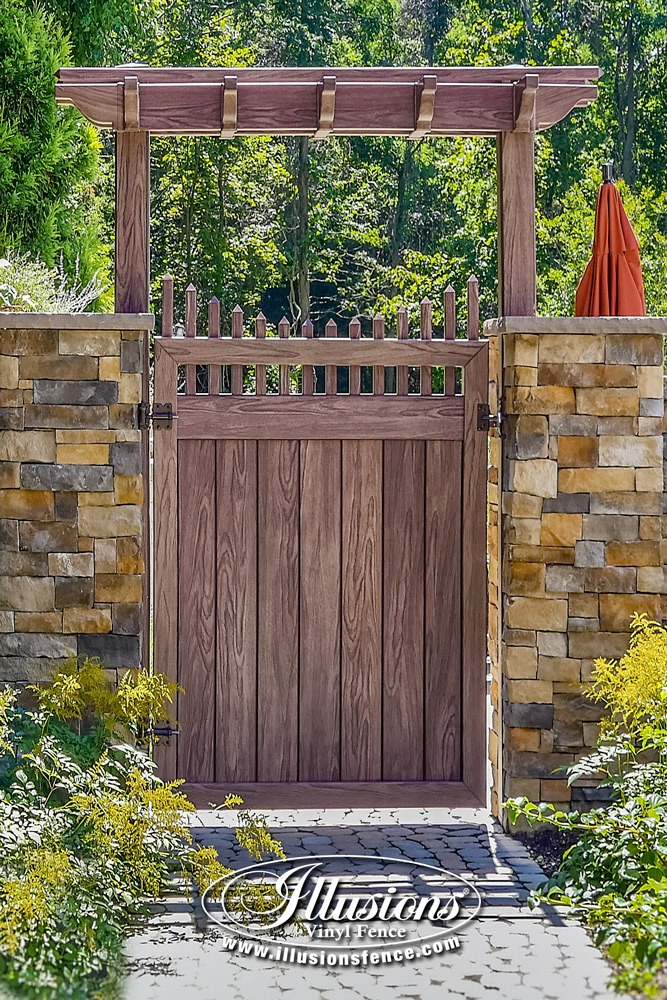 Beautiful PVC Vinyl Wood Grain Fence Gates from Illusions Vinyl Fence #gateideas