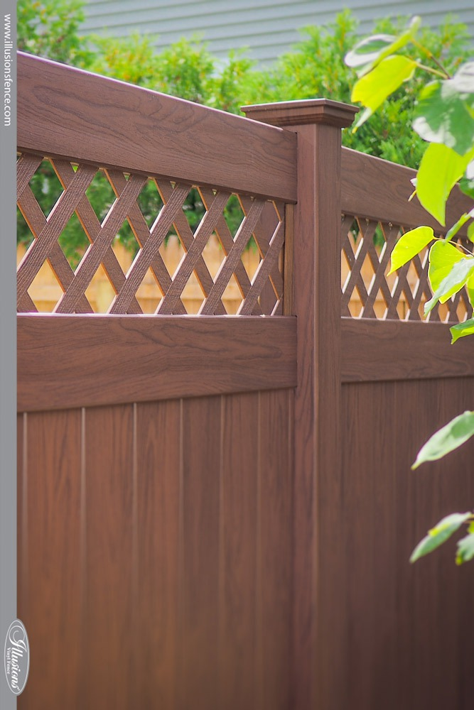 Beautiful Rosewood Illusions Vinyl Privacy Fence #landscaping