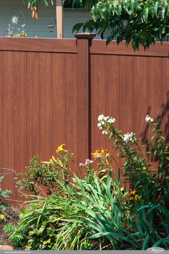 Faux Wood Fencing - Illusions Vinyl Fence