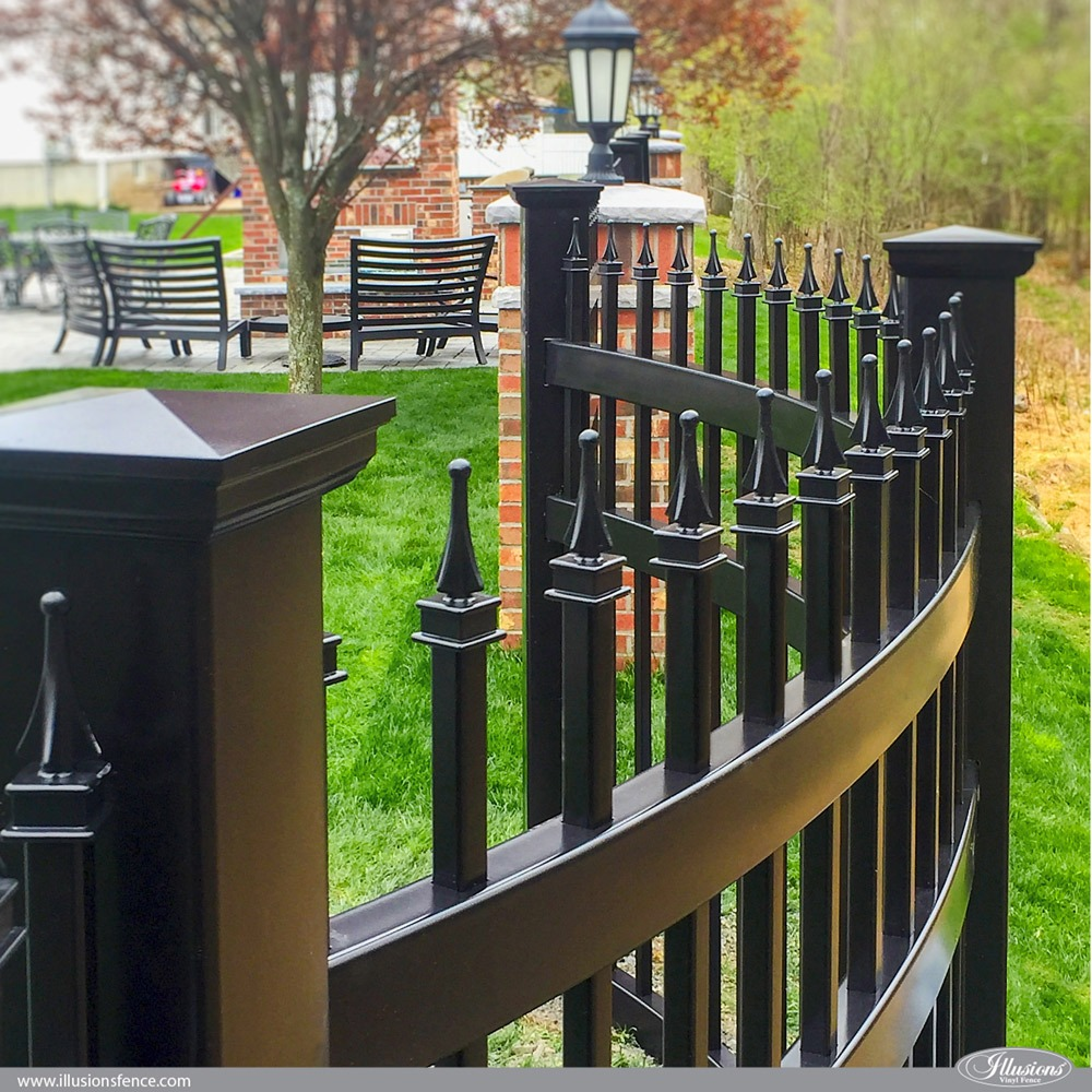 Black PVC Vinyl Ornamental Fencing by Illusions Fence