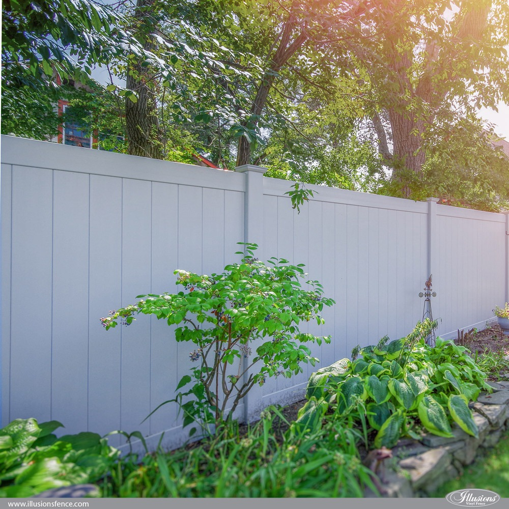 Classic Gray Illusions PVC VInyl Privacy Fence