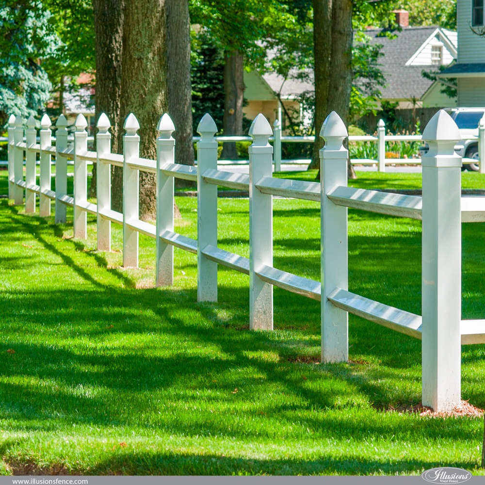 Illusions Diamond 2-Rail PVC Vinyl Fence