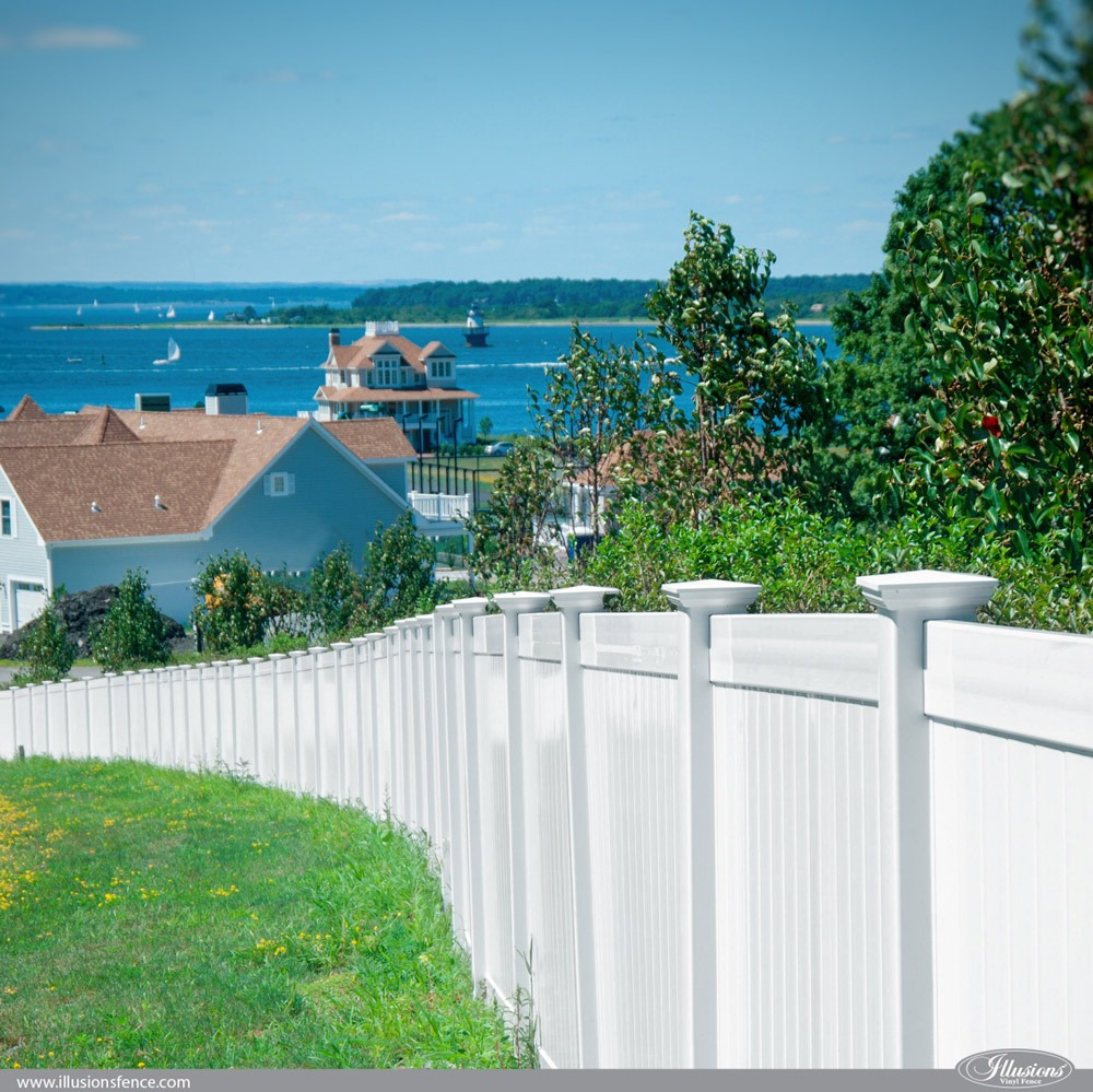 Illusions White Privacy PVC Vinyl Fence