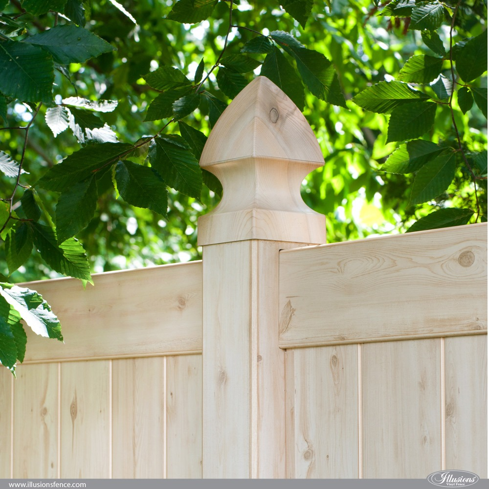 PVC Vinyl Wood Grain Cedar Fence From Illusions