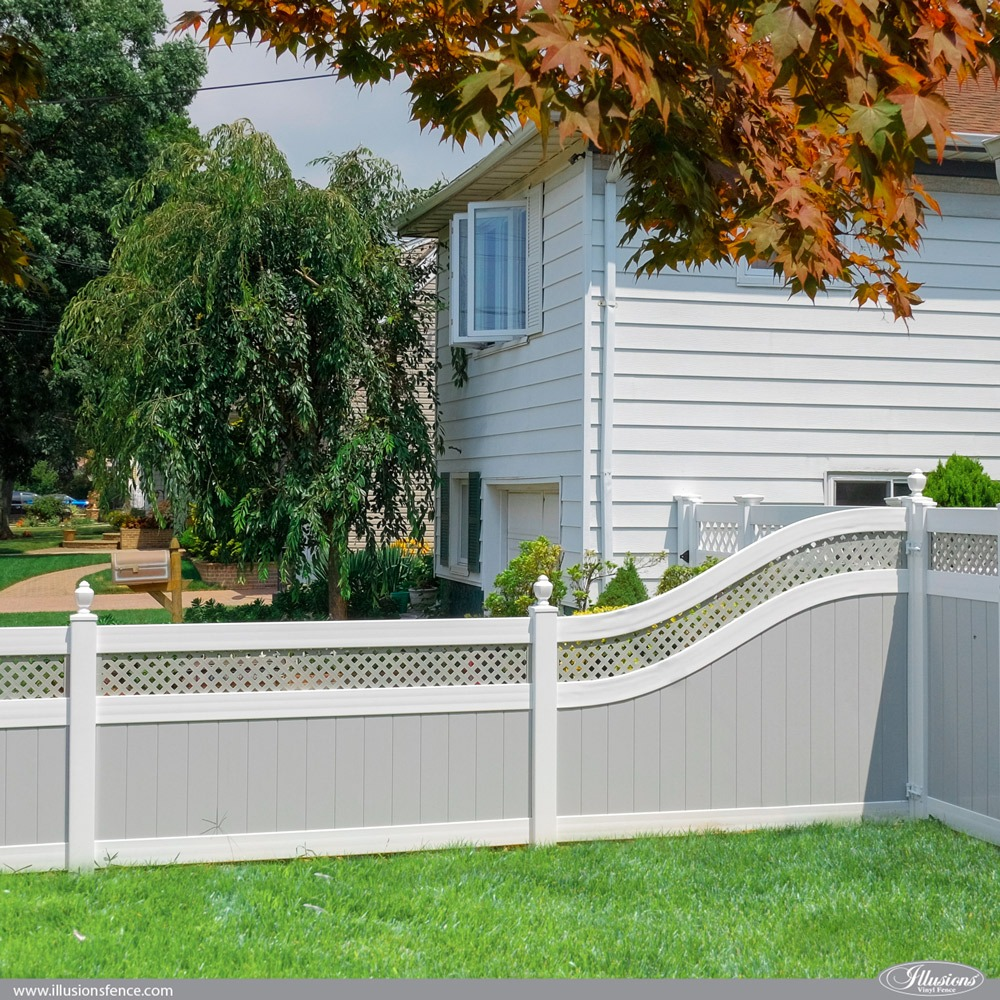 S-Curved J-Rails by Illusions Vinyl Fence