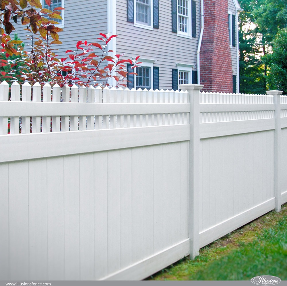 V3700-6 Illusions Privacy PVC Vinyl Fence
