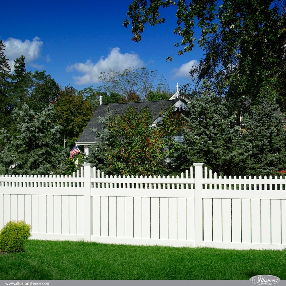 V5706-4 PVC Vinyl Illusions Semi-Privacy Fence