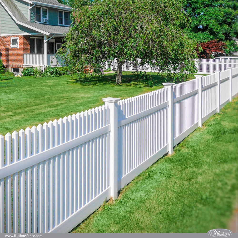 42 Vinyl Fence Home Decor Ideas For Your Yard Illusions Vinyl Fence