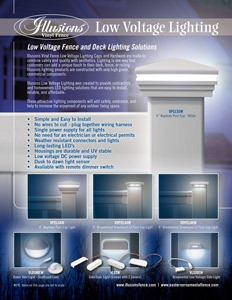 Illusions and Eastern Ornamental Low Voltage Lighting Brochure