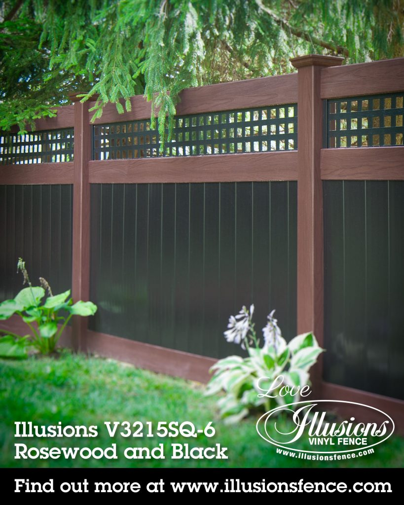 If You Need a Fence, Illusions Rosewood and Black Vinyl Privacy Fence is the Fence You Want #vinylfence #vinylfencing #vinylfences #fence #fences #fencing #fencecompany #fencecontactor #fenceinstaller #fenceideas #poolfence #privacyfence #picketfence #americandream