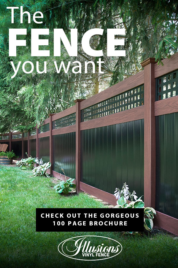 If You Need a Fence, Illusions Rosewood and Black Vinyl Privacy Fence is the Fence You Want #vinylfence #vinylfencing #vinylfences #fence #fences #fencing #fencecompany #fencecontactor #fenceinstaller #fenceideas #poolfence #privacyfence #picketfence #amer
