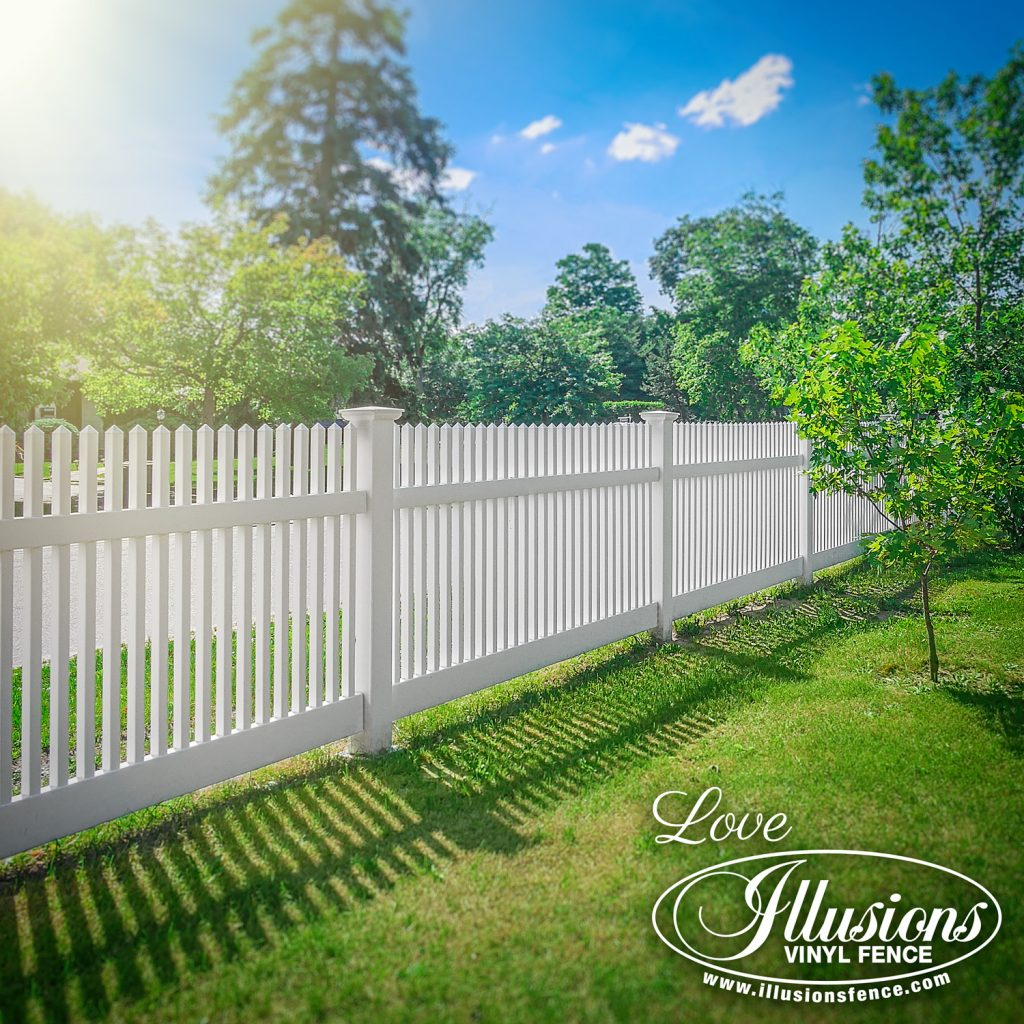 Got to love this incredible American dream Illusions V700-4 style straight top white picket vinyl fence #fence #fences #fencing #vinylfence #vinylfencing #fencepanels #fenceideas #homeideas #homedecor #backyardideas #privacyfence #privacyfences #poolfence #poolfences #longisland #longislandny #newyork #connecticut #rhodeisland #massachusetts #connecticut #pennsylvania #newjersey #fencecompany #bestfence #fencecontractor #fenceinstaller #yardfence