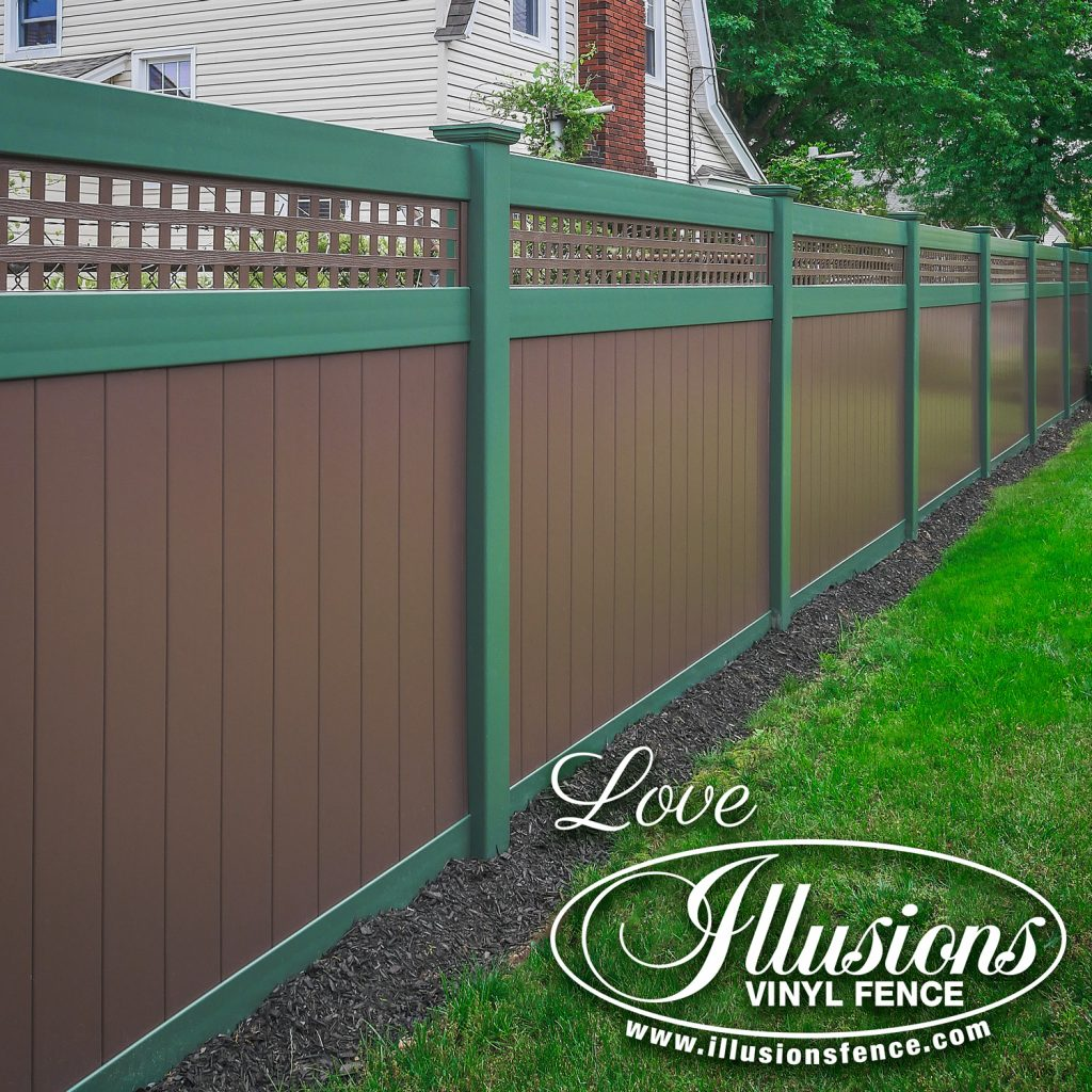 Got to love this modern looking Eastern Green and Brown V3215SQ-6 vinyl privacy fence #fence #fences #fencing #vinylfence #vinylfencing #fencepanels #fenceideas #homeideas #homedecor #backyardideas #privacyfence #privacyfences #poolfence #poolfences #longisland #longislandny #newyork #connecticut #rhodeisland #massachusetts #connecticut #pennsylvania #newjersey #fencecompany #bestfence #fencecontractor #fenceinstaller #yardfence