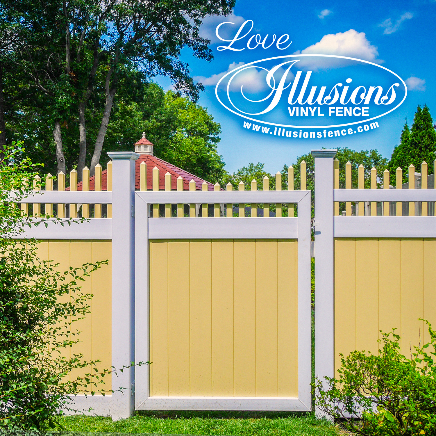 Gotta Love Illusions Vinyl Fence Illusions Fence